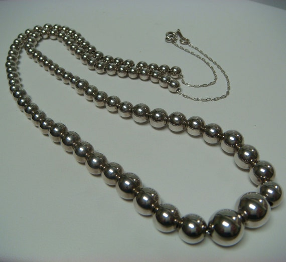 REDUCED - Tiffany & Co Sterling Silver .925 Add A Bead Graduated Necklace