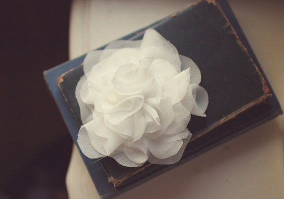 Wedding Hair Accessory,  Whimsical Chiffon Flower Pouf (available in a wide variety of colors)