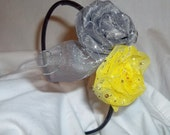 Gray Daffodils Headband