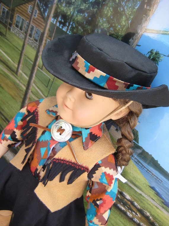 18 inch Doll Clothes American Girl Cowgirl Skirt, Hat and Vest