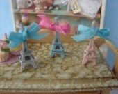 Miniature Eiffel Tower - Your Choice of White, Pink or Blue