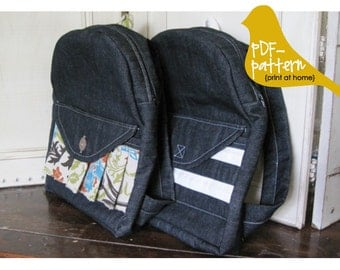 Toddler Backpack PDF (INSTANT DOWNLOAD Sewing Pattern)