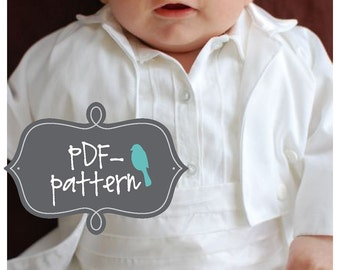 Large Baby Tuxedo PDF (INSTANT DOWNLOAD Sewing Pattern)