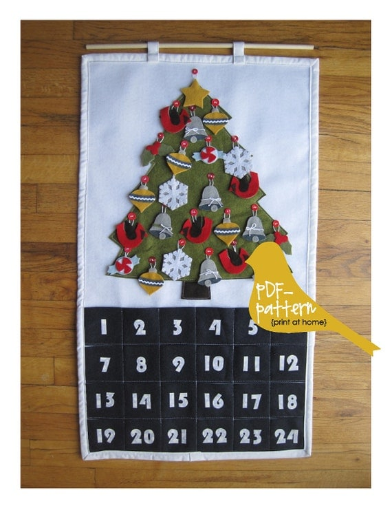 Christmas Advent Calendar PDF (INSTANT DOWNLOAD Sewing Pattern)