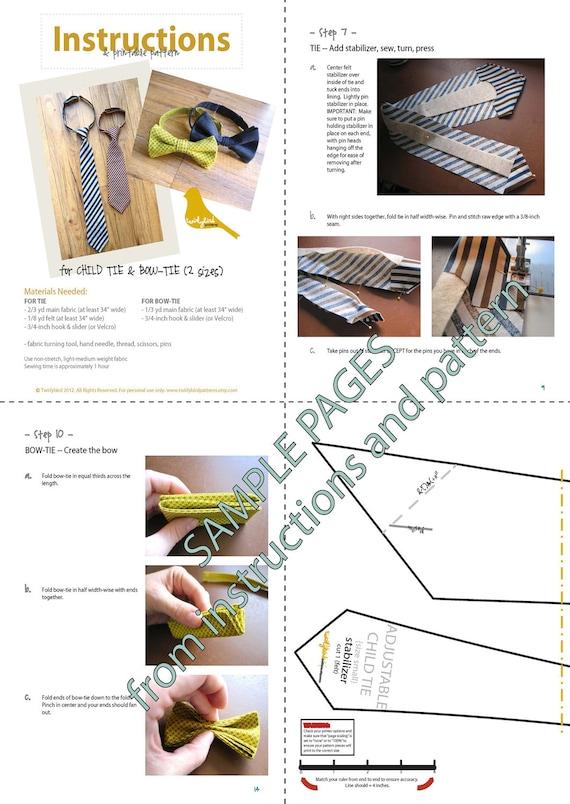 mens bow tie pattern pdf