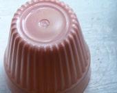 Vintage Flower Pot-- Hazel Atlas Peach/Pink Platonite