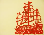 Chinese Paper Paper art - Sailboat