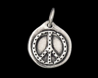 Peace Silver Charm
