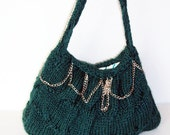 messenger Bag hand-woven knitting bag