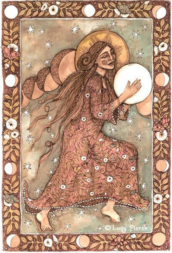PRINT She Drums the Moon