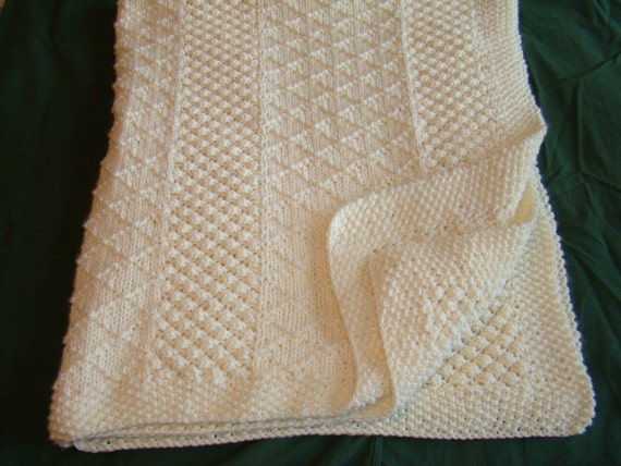 Hand Knit - Irish Knit in Ivory - In Stock Now