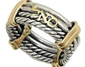 Kabbalah Ring for Success and Prosperity Gold & Silver