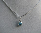 Tiniest Evil Eye Necklace Turquoise Blue Mini Bead