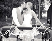 Just Married Burlap Sign - Photo Accessory