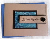 Card - Any Occasion - Joy Love Happiness (set of 2)