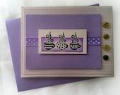 Card - Any Occasion - Purple Coffee Mugs