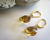 Honey Quartz Earrings, 14kt gold filled