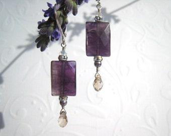 purple amethyst earrings amethyst earrings purple crystal earring bridal earrings bridal bride jewelry wedding jewelry violet gift idea