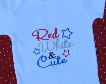 Red White and Cute Shirt or Bodysuit