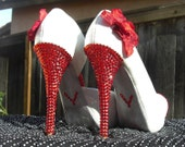 Reserved for Briana: The Beauty Glitter Heel in Red