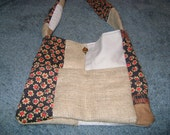 Upcycled Patchwork Bag with Long Strap