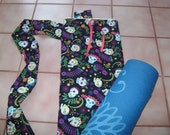 Flower and Skull Yoga Mat Bag