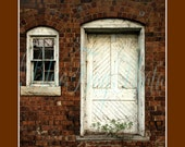 Door to Nowhere Photograph 8X10 Photo Fine Art Nelsonville Ohio Old Brick Factory Ruins Abandoned Building Star Bricks