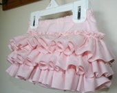 All Around Baby Ruffle Bloomer - Diaper Cover - skirt  Gorgeous Light Pink - 0-3 months to 2T Made to Order Other Colors Available
