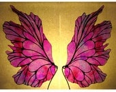 Costume Fairy Wings - Iridescent Translucent  - Small Pink / Lilac
