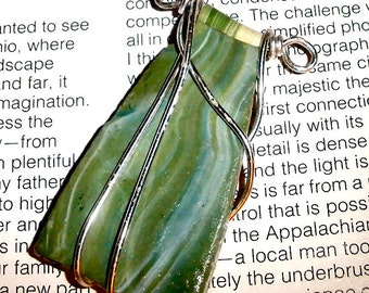 wire wrapped pendant reversable polymer