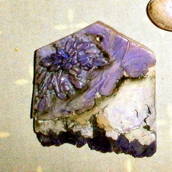 faux druzy pendant amethyst polymer clay