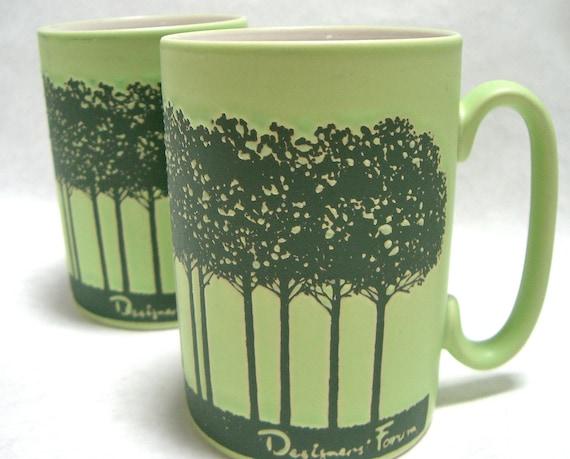 Designers Forum Green Tree Mugs