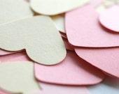 Custom Confetti, Paper Heart Confetti, Wedding decoration, bridal shower decoration, bachelorette party decoration, ivory, light pink, pink