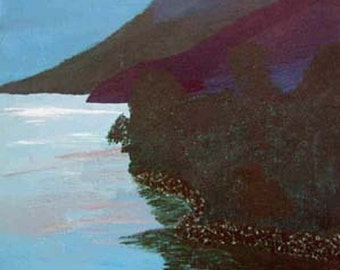 Lake by the Mountains limited edtion 4 x 6 signed dated