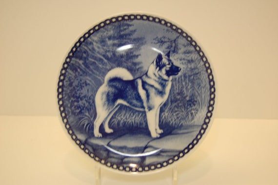 Norwegian Elkhound Collector Porcelain Plate by Tove Svendsen