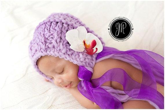 KNIT PATTERN - Libby Bonnet  (Newborn, 3-6m & 6-12m)