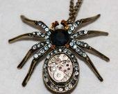 Clockwork Spider Necklace