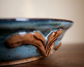 Scroll Bowl in Blue and Brown