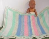 Baby  Afghan in Pastel Colors