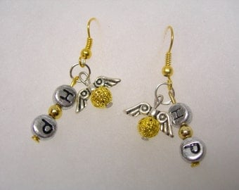 Harry Potter Inspired Golden Snitch New Design 2nd X Small Filigree Ball  Earrings