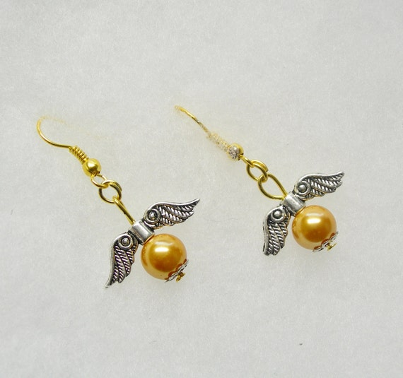 golden snitch earrings harry potter golden snitch 2 tone earrings 9076