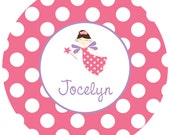 Personalized Girls Plate - Fairy - Can be Monogram Monogrammed