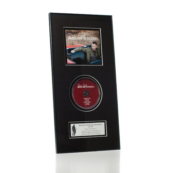 CD Album Frame & Matting Combo w/ Custom Album Label