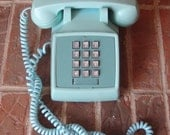 Teal Bell Telephone 70's