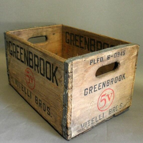 vintage Wood Bottle Crate - Vitelli Bros. Greenbrook NJ