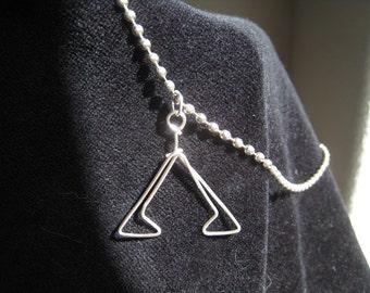Stargate pyramid glyph necklace