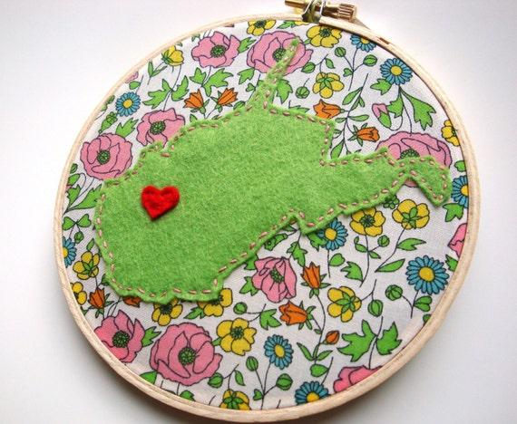 West Virginia embroidery hoop art state art WV Mountaineers