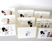Greeting Card Set - The Full Pounou Collection of 9 Cards
