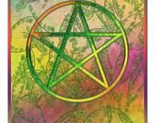 Spring Pentacle Pagan Wiccan Digital Art