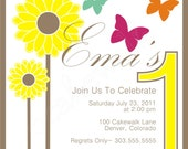 Invitation: Sunflowers & Butterflies by Cakewalk
